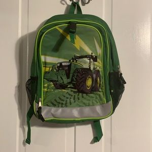 "NWOT John Deere Green Tractor 16"" Backpack Bookbag"